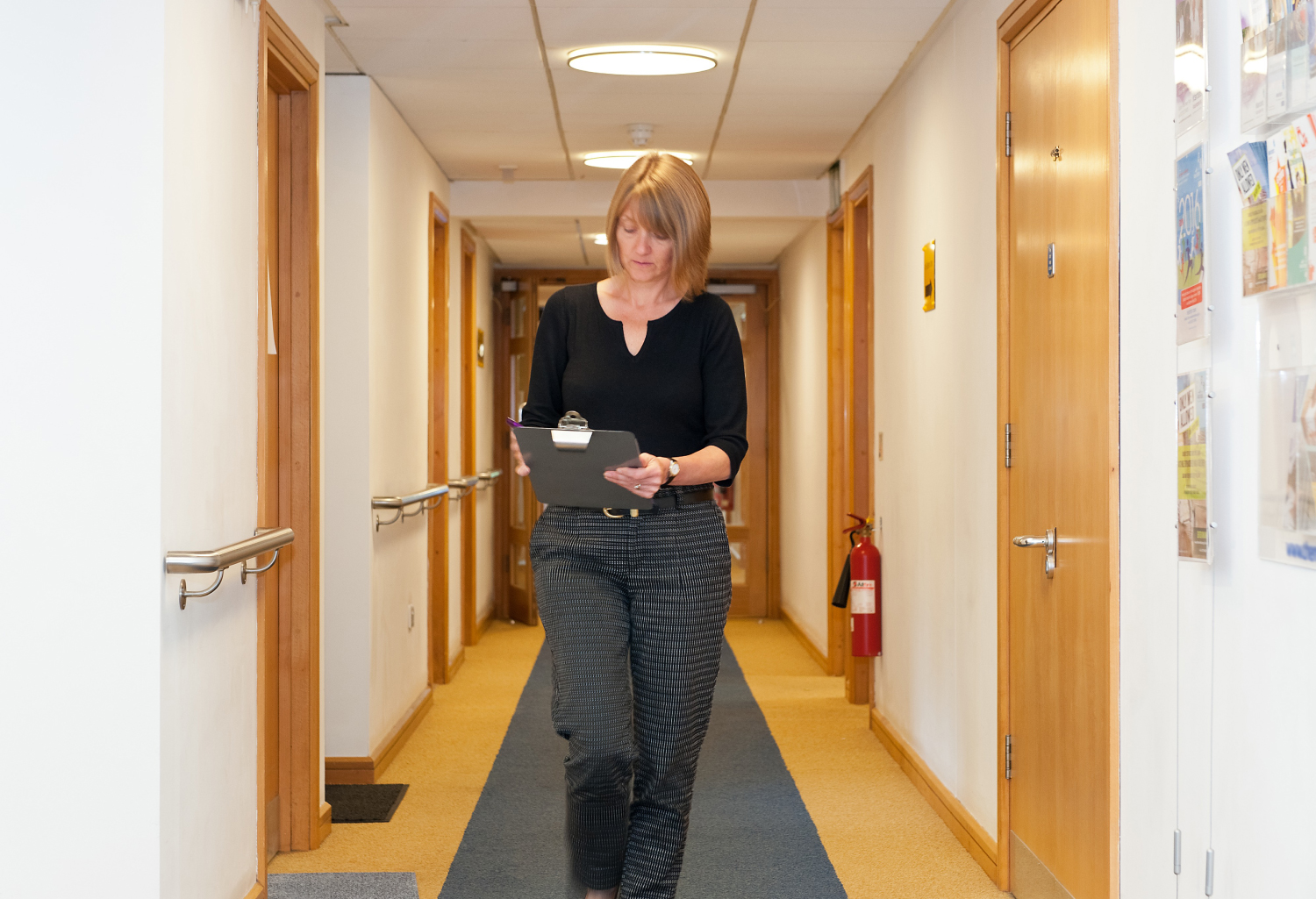 Person carrying out hospice inspection
