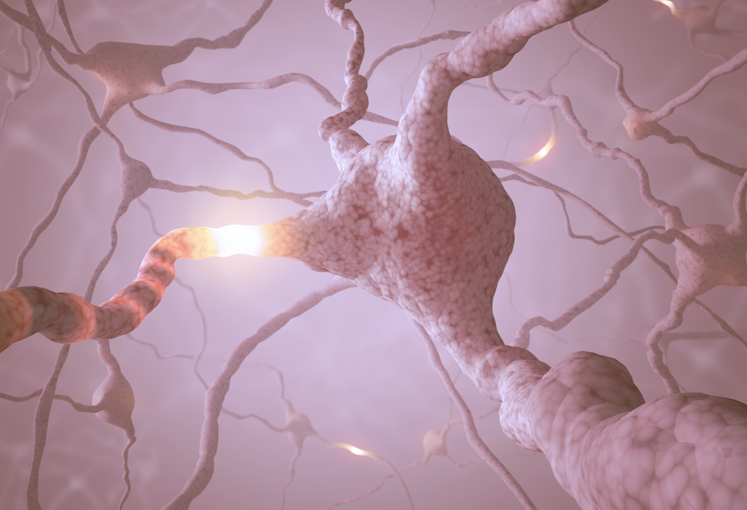conceptual image of nerve firing